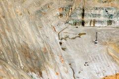 открытый карьер шахты стоковое изображение