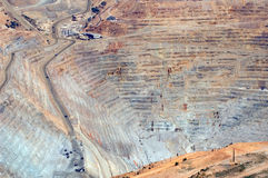 открытый карьер шахты стоковые изображения