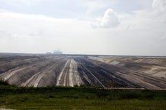 открытый карьер шахты jaenschwalde угля Стоковое Изображение RF