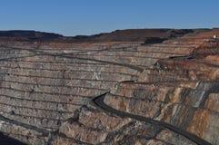Открытый карьер Kalgoorlie Больдэр минирования золотодобывающего рудника Стоковое фото RF