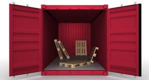 Открытый контейнер перевозки бесплатная иллюстрация
