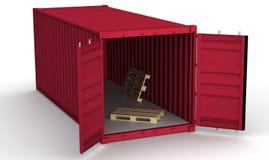 Открытый контейнер перевозки иллюстрация штока