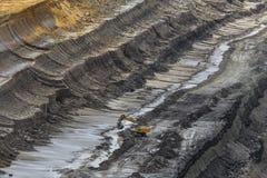 Открытый - добыча угля бросания Стоковые Фото
