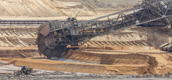 Открытый - добыча угля бросания Стоковые Фотографии RF