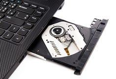 Открытый привод DVD стоковые фото