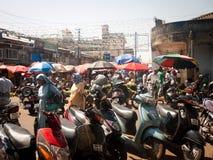 Открытый рынок в Индии Стоковое фото RF