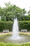 Открытый сад фонтана Стоковые Изображения
