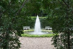 Открытый сад фонтана Стоковое Изображение