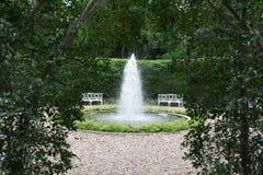 Открытый сад фонтана Стоковая Фотография