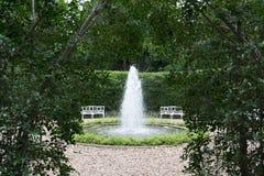 Открытый сад фонтана Стоковое Изображение RF