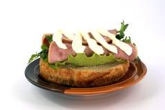 открытый сандвич Стоковые Изображения