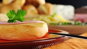 открытый сандвич Стоковое Изображение