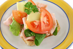 открытый сандвич 2 Стоковое фото RF