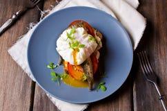 Открытый сандвич с рыбами Стоковое Изображение RF