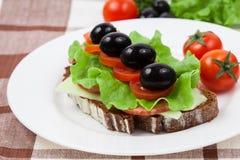 Открытый сандвич Стоковое Изображение RF