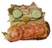 Открытый сандвич Стоковое фото RF