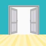Открыть двери вектора Стоковые Фото