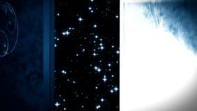 открыть дверь жизни после смерти иллюстрация вектора