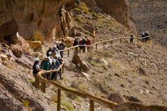 Отклонение к Cueva de las Manos стоковая фотография rf
