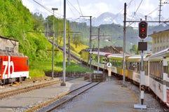 Отклонение пассажирского поезда Стоковое фото RF