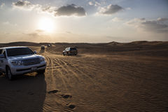 Отключение автомобиля в пустыне Стоковые Фото