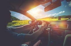 Отключение автомобиля лета стоковые фотографии rf