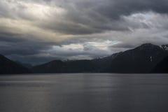 Отключение вдоль Sognefjord Стоковые Фото