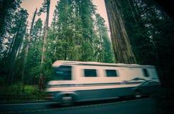 Отключение Калифорнии RV стоковая фотография
