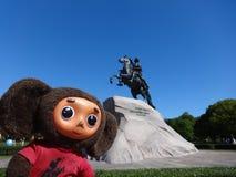 Отключения через Россию с Cheburashka Стоковая Фотография