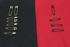 отладка войлока черноты прикалывает красный цвет Стоковое Изображение