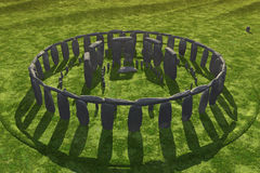 отливка затеняет stonehenge Стоковое фото RF
