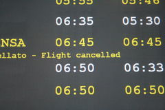 отмененный полет Стоковые Изображения RF