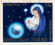 Отмененный штемпель Острова Рождества 1979 Стоковое Изображение