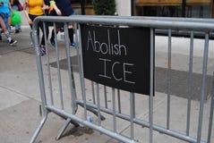 Отмените ЛЕД, u S Иммиграция и принуждение таможен стоковое фото