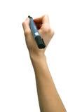 Отметка в руке женщины Стоковое Изображение