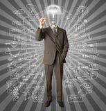 отметка головной лампы бизнесмена Стоковые Изображения