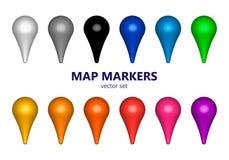 Отметка карты Стоковое Фото