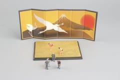 отметка кино диаграммы борца sumo Стоковые Фотографии RF