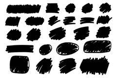 Отметка, краска, ход щетки чернил, метка текста, рамка бесплатная иллюстрация