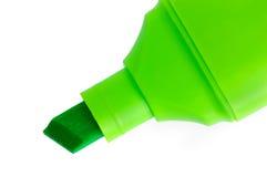 отметка макроса крупного плана изолированная зеленым цветом Стоковые Фото