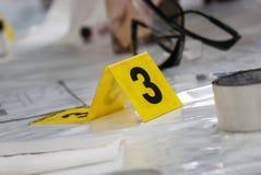 Отметка места преступления Стоковые Фото