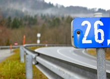 26 - отметка дорожного знака Стоковые Изображения