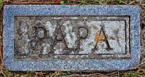 Отметка ПАПЫ кладбища лютеранина Сиона Стоковое Изображение RF
