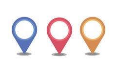 Отметка положения Pin карты Стоковые Фотографии RF