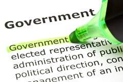 Отметка правительства зеленая стоковая фотография rf