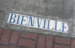 Отметка улицы Нового Орлеана - улица Bienville французского квартала Стоковые Изображения