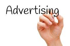Отметка черноты руки рекламы стоковые изображения