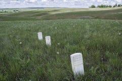 Отметки показывают куда солдаты США упали во время сражения меньшего Bighorn стоковые изображения rf