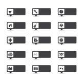 Отметки положения карты, вектор указателей Стоковое Изображение