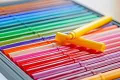 Отметки цвета в крупном плане ящика для хранения Стоковые Изображения RF